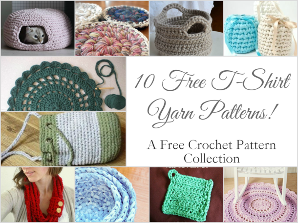 Weekly Gathering: 10 Free T-Shirt Yarn Crochet Patterns!