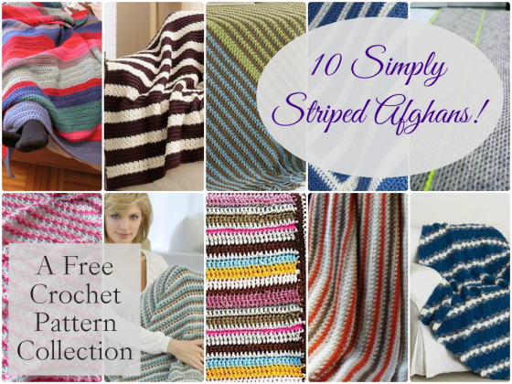 10 Simply Striped Afghans
